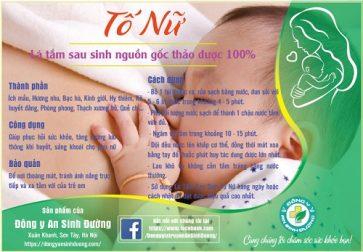 Lá tắm sau sinh Tố Nữ Giá: 159.000 VNĐ/liệu trình 3 túi