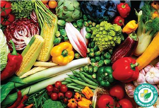 Các loại rau, củ và trái cây nên chiếm 1/2 chế độ ăn