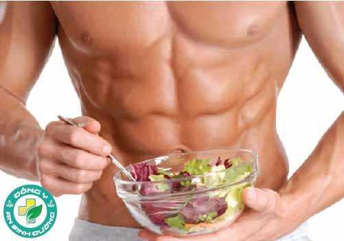 Để có cơ bắp săn chắc thì ngoài tập luyện, bạn cũng cần chế độ ăn thích hợp